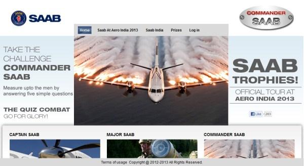 Commander Saab Contest at Aero India 2013