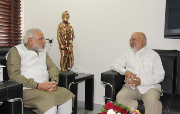 Gujarat Chief Minister Narendra Modi with Bangladesh High Commissioner Tariq A. Karim.