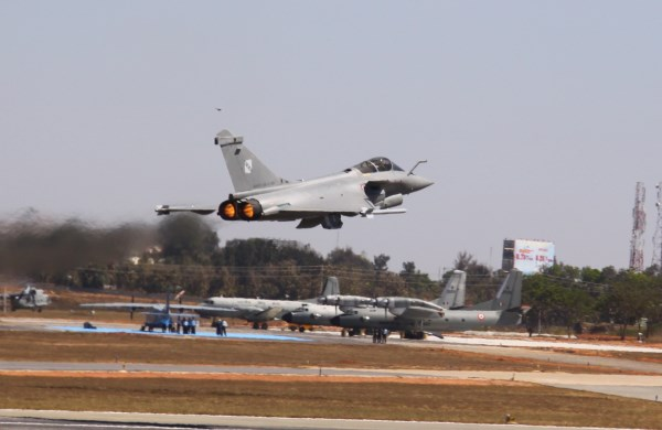 A French Armée de l'Air Rafale at Aero India 2011 | Photo: Shashanka Nanda/StratPost