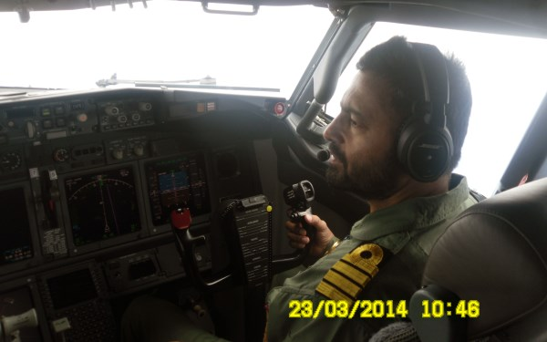 Captain HS Jhajj, during the search for the Malaysian MH370 airliner.