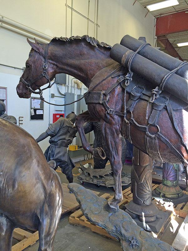 Bronze Statue Horse Post