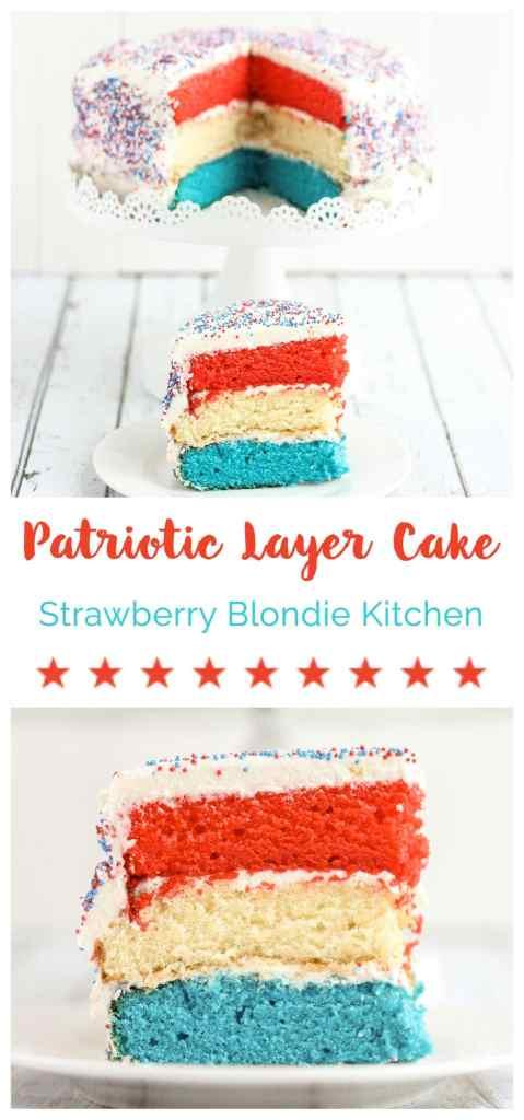 Patriotic Layer Cake | Strawberry Blondie Kitchen