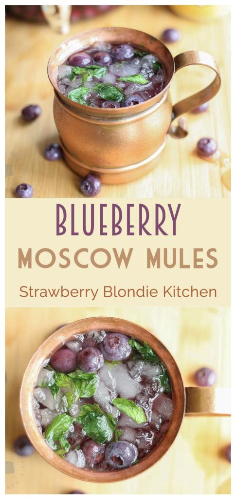 Blueberry Moscow Mule  Strawberry Blondie Kitchen