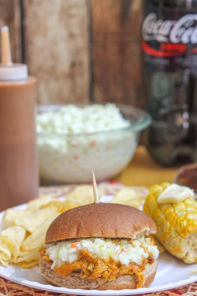 Pulled Chicken Sandwiches with Homemade BBQ Sauce | Strawberry Blondie Kitchen