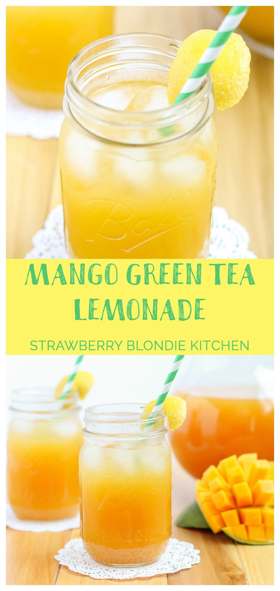 mango green tea lemonade strawberry blondie kitchen