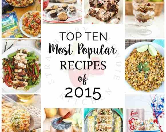 Top Ten Most Popular Recipes of 2015