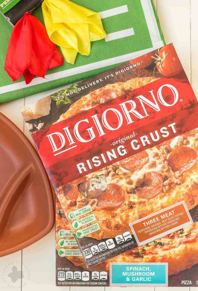 Digiorno Pizza tailgate at home with digiorno® pizza and homemade dipping sauces