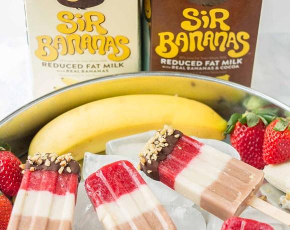 Banana Split Popsicles