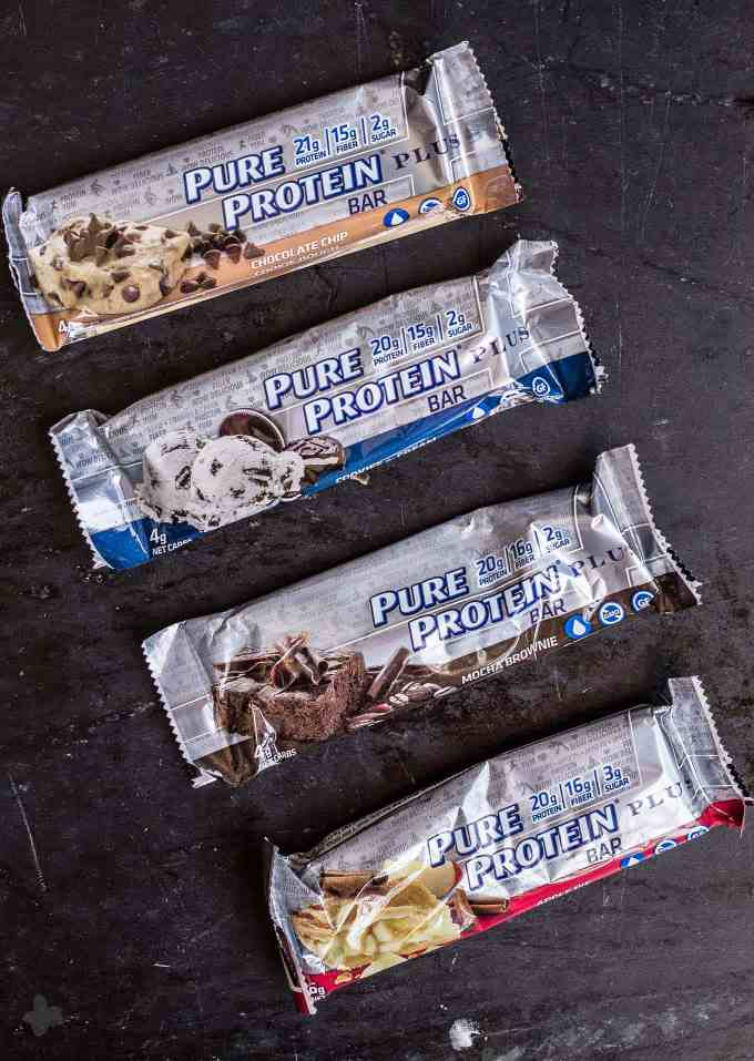 These Protein Packed Chocolate Chip Cookie Dough Parfaits are a low calorie, low sugar, indulgent treat thanks to Pure Protein Plus Bars. | Strawberry Blondie Kitchen