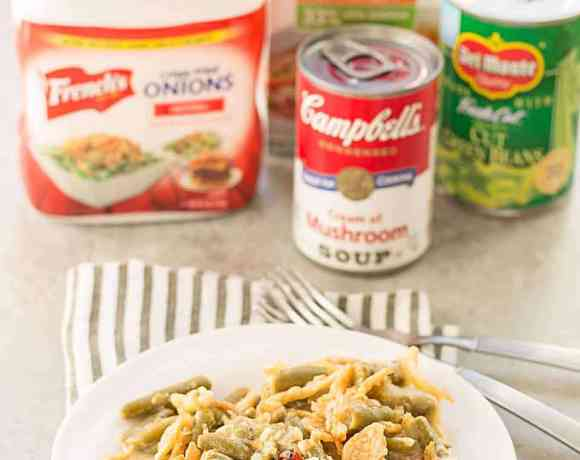 Slow Cooker White Cheddar Green Bean Casserole