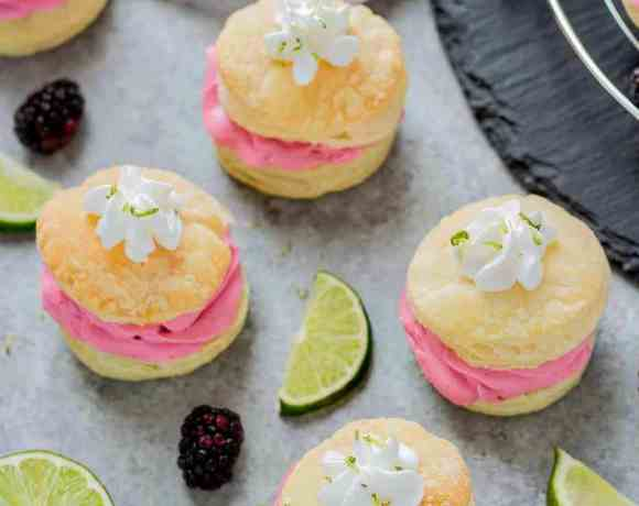 Blackberry Lime Buttercream Puffs
