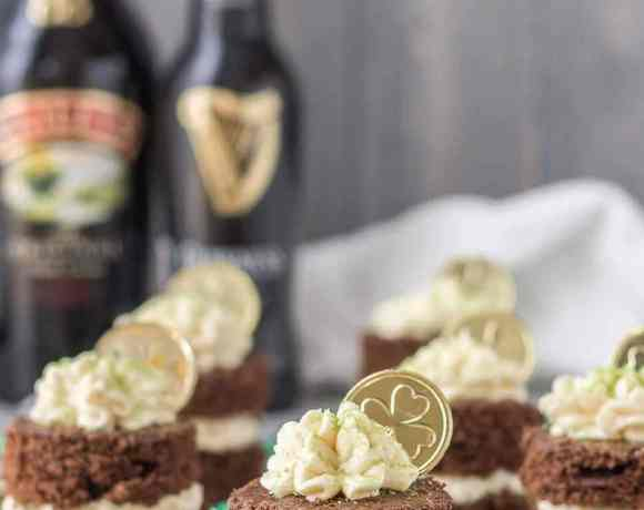 Chocolate Guinness Mini Cakes with Baileys Buttercream