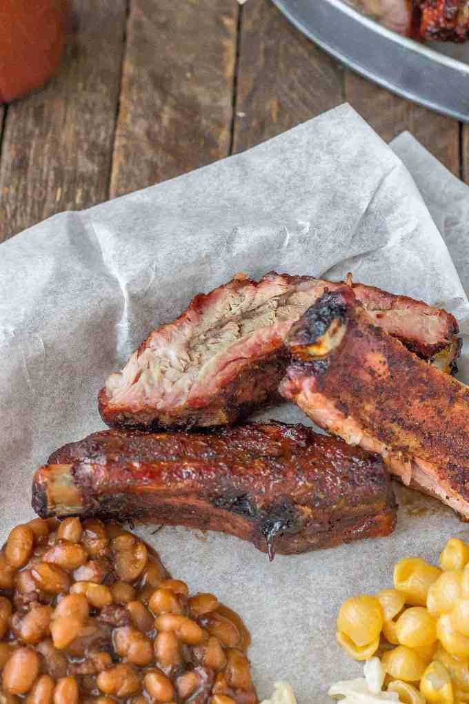 Sweet and Smoky, these Dry Rubbed Pork Ribs are extra tender and juicy thanks to Smithfield Extra Tender Pork Back Ribs. One lookand you'll be running to the grill to make your own! | Strawberry Blondie Kitchen
