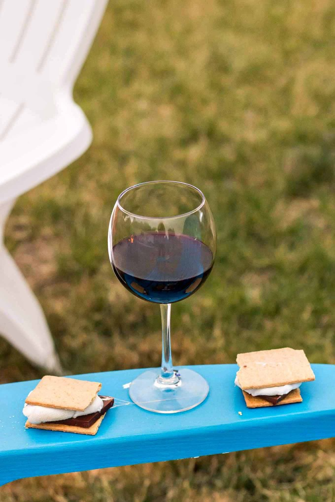 Get out there and enjoy some wine with a side of adventure. Whether it's hiking in the mountains, around the fire or on the patio with friends, enjoy yourself! | Strawberry Blondie Kitchen