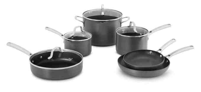 Holiday Gift Guide-Calphalon 10 Piece Classic Nonstick Cookware Set