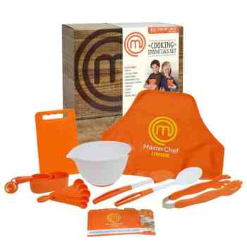 holiday gift guide MasterChef Junior Cooking Essentials Set - 9 Pc. Kit Includes Real Cookware for Kids, Recipes and Apron