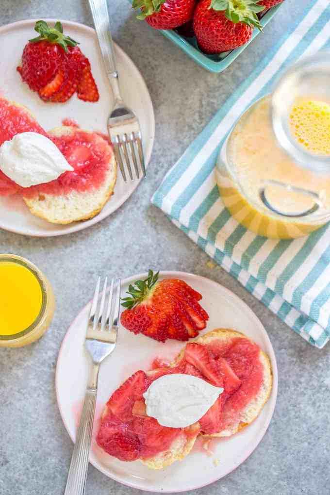 Strawberry Rhubarb Shortcake