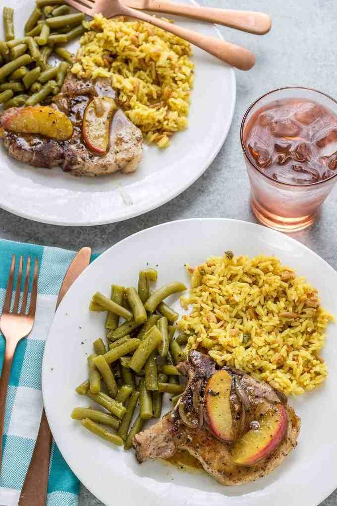 Peach and Dijon Pork Chops