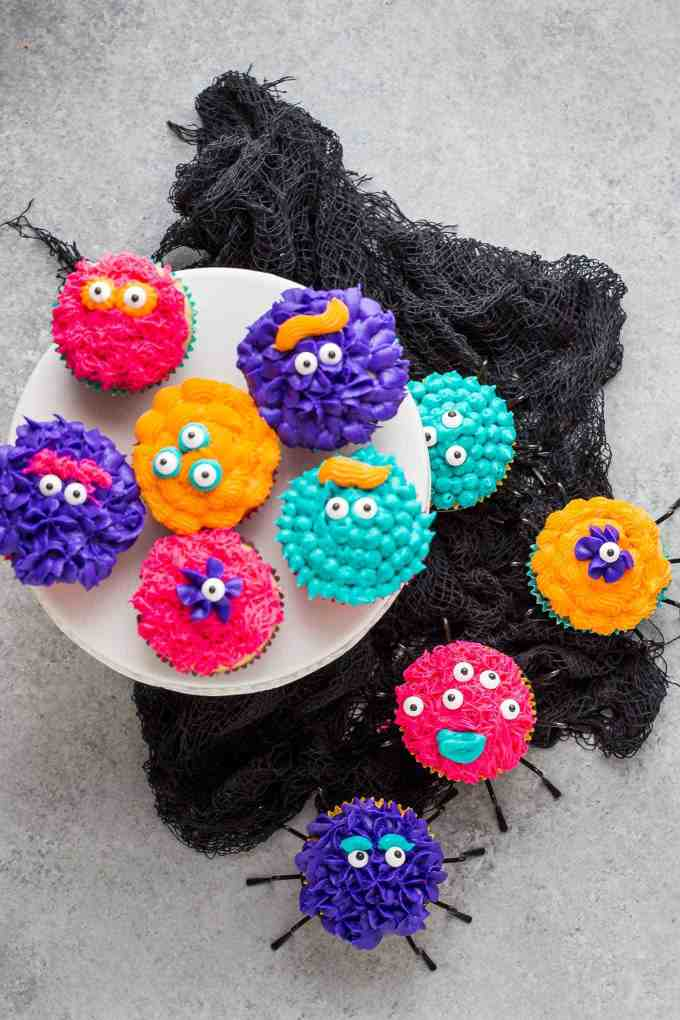 Monster Pinata Cupcakes