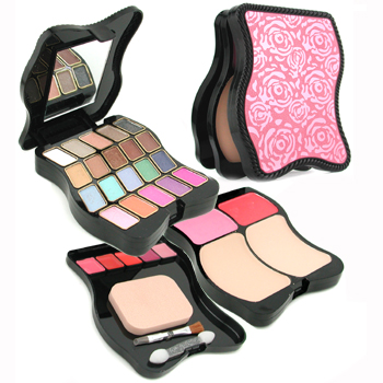 Pretty Fashion MakeUp Kit 62201: 2x Powder+ 2x Blush+ 20x Eyeshadow+ 5x Lip Color+ 3x Applicator -