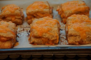 Apple & Cheddar Double Decker Biscuits