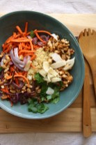 Carrot & Quinoa Salad with Roasted Cannellini Beans
