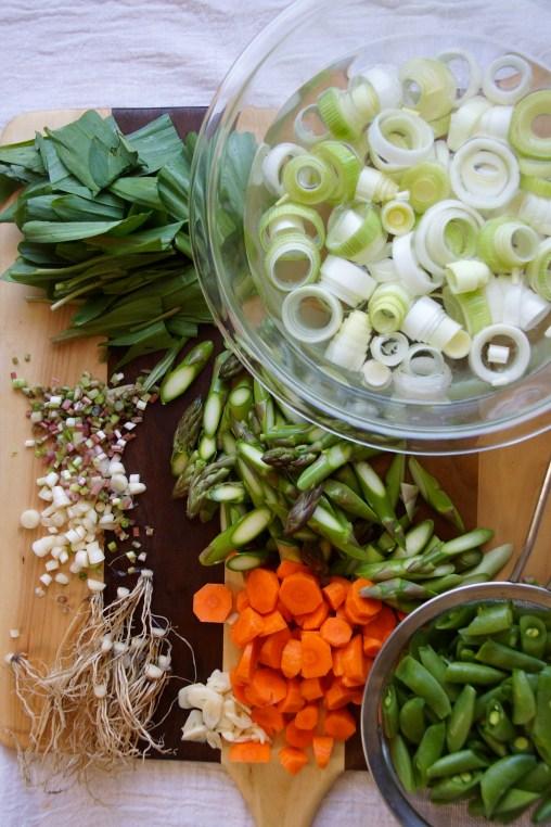 Ramp, Asparagus & Pea Soup