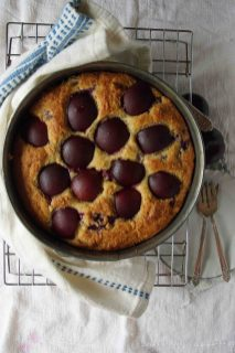 Cooling Raspberry-Plum Yogurt Cake