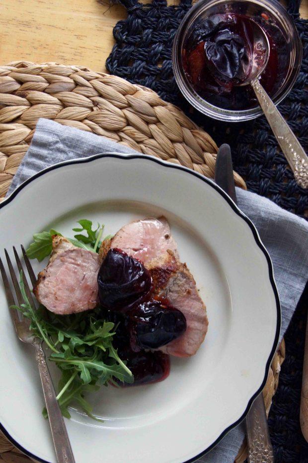 Roasted Pork Tenderloin with Plum Jam