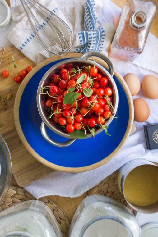 Sour Cherries & Clafoutis Ingredients