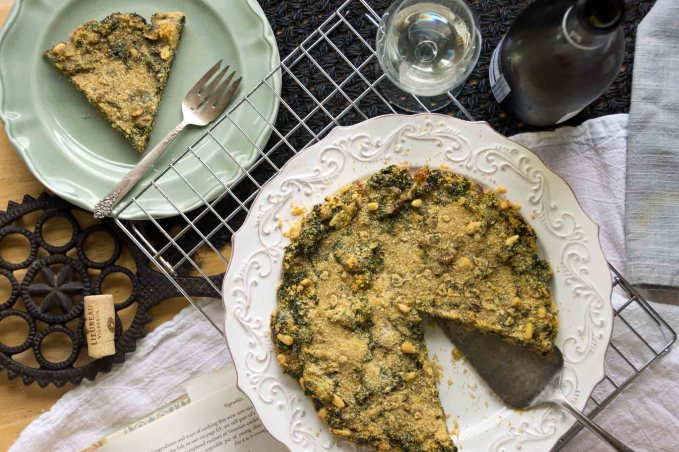 Swiss Chard Torta with Pine Nuts & Raisins