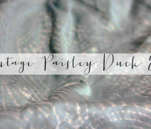 Vintage Paisley Duck Egg duvet cover | Strawberry Squeeze 2