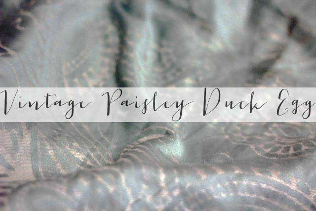 Vintage Paisley Duck Egg duvet cover | UK Lifestyle Blog