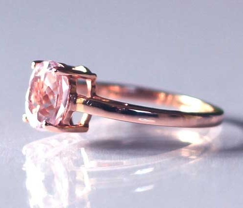 Minas gerais kunzite ring in 9k rose gold 1.57cts | Strawberry Squeeze 4