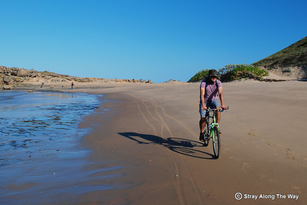 Cycling-on-the-beach-in-Mozambique