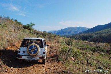 Thomas enjoying Ithala Game Reserve's Bivane 4x4 Trail
