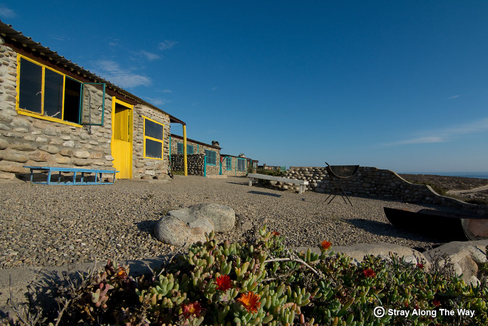 Noup huts on the beach