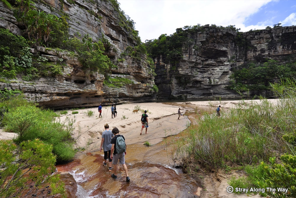 Hiking to Mnyameni Falls