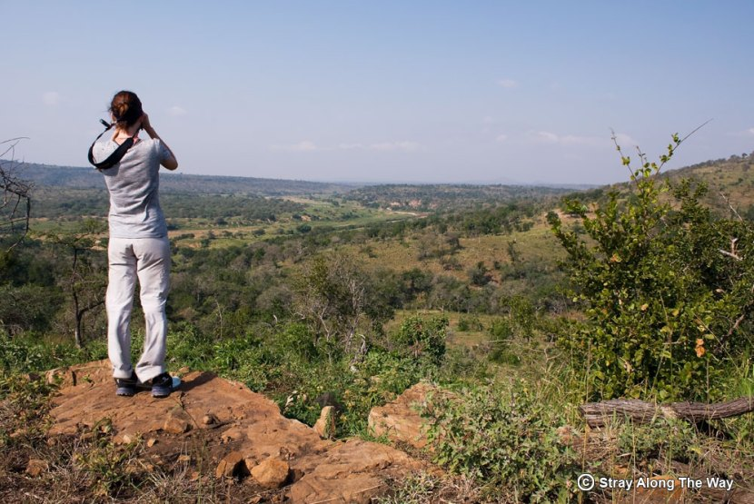 Jill looking over the incredible iMfolozi Wilderness area.