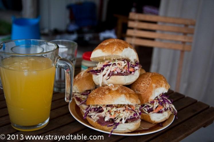 Corned Beef & Slaw Rolls