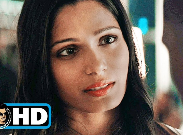 """NEEDLE IN A TIMESTACK Clip - """"Don't Regret The Past"""" (2021) Freida Pinto"""
