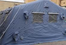 Photo of Installata una tenda di prima accoglienza per chi si reca all'Ospedale dell'Aquila con sintomi influenzali.