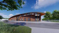 Gevelschetsen nieuwe SABA-gebouw. Bron: Te Kiefte Architecten