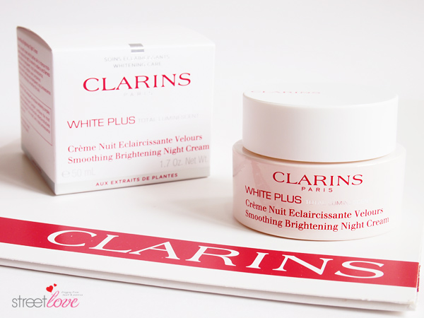 Clarins White Plus Total Luminescent Smoothing Brightening Night Cream 1