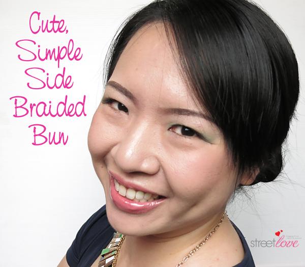 Hair Tutorial Side Braided Bun 1