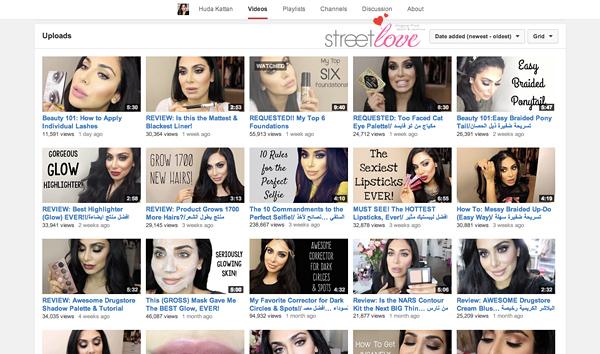 YouTube Favourite 14 Huda Kattan