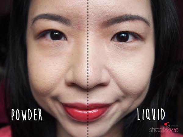 Colours Cosmetics Malaysia Flat Top Foundation Brush Liquid vs Powder Face Comparison