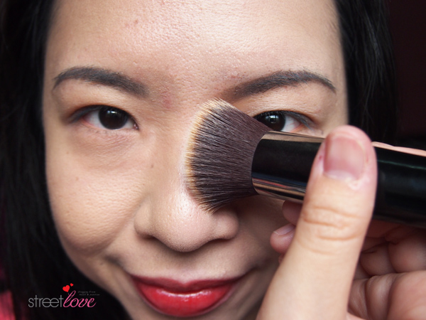 Colours Cosmetics Malaysia Flat Top Foundation Brush using with Liquid Foundation 3