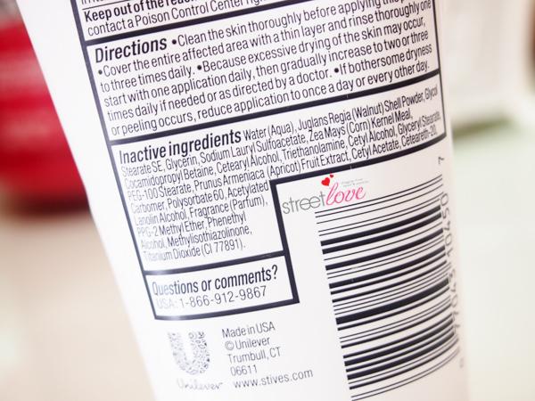 St. Ives Blemish Control Apricot Scrub Ingredients