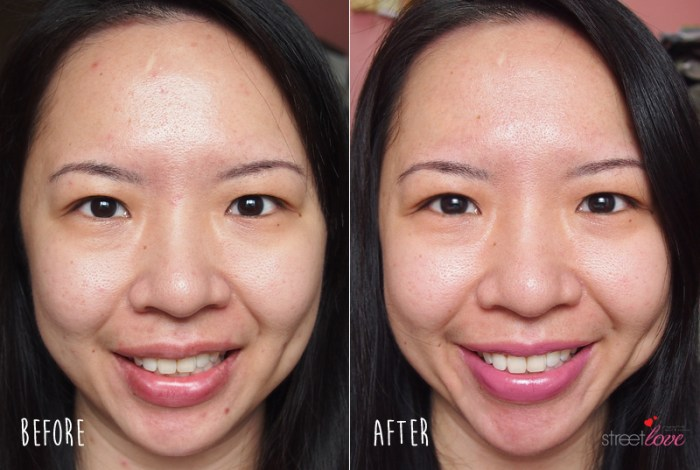 Estee Lauder Crescent White Before and After